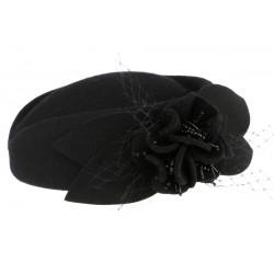 Chapeau bibi noir femme en feutre Kate Léon Montane
