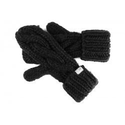 Gant moufle femme noir Coal Rosalita