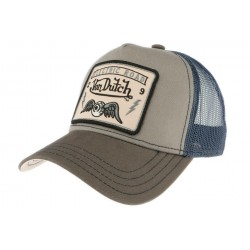 Casquette Von Dutch Grise et Bleu Electric Road