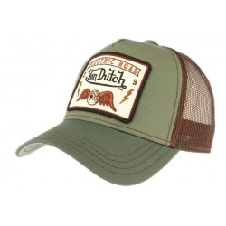 Casquette trucker Von Dutch Electric Road vert olive