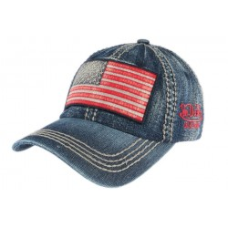 Casquette Von Dutch Denim bleu Walton USA