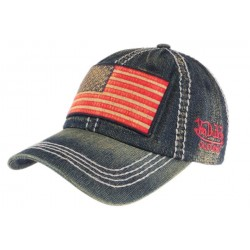 Casquette Von Dutch blue jean Walton USA