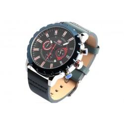 Montre chronographe bleue bracelet cuir Kalex Mini Focus