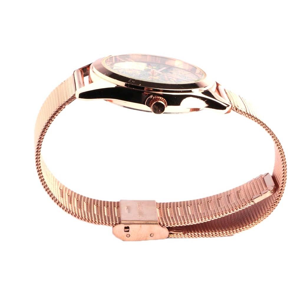 montre dor e paillette bleue bracelet milanais montre femme livr 48h. Black Bedroom Furniture Sets. Home Design Ideas