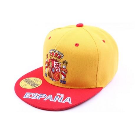 Casquette Espagne jaune et rouge