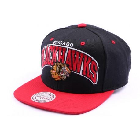 Casquette snapback Chicago Blackhawks Noir et Rouge