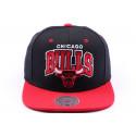 Casquette snapback Chicago Bulls Noir et Rouge