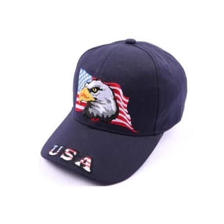 Casquette Aigle drapeau USA Marine