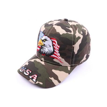 Casquette Aigle drapeau USA Camouflage