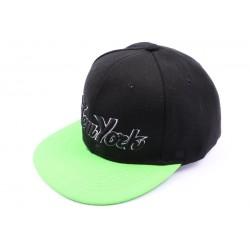 Casquette snapback Noir et verte