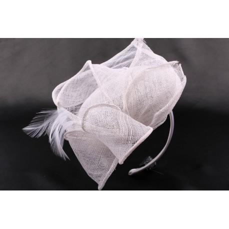 Coiffe mariée Ceibo en sisal blanchi