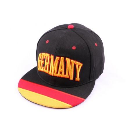 Casquette Snapback Allemagne Noire Jaune Rouge