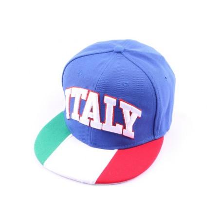 Casquette Snapback Italie Verte Blanche Rouge