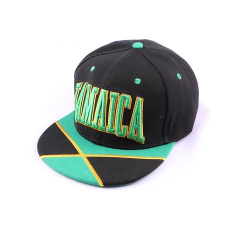 Casquette Snapback Jamaïque Noire Jaune Verte