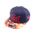 Casquette Snapback New York NY Bleue Marine et Bariolée style Urban Wear