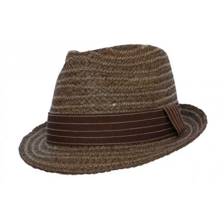 Nyls création chapeau de paille Oakland en raphia marron