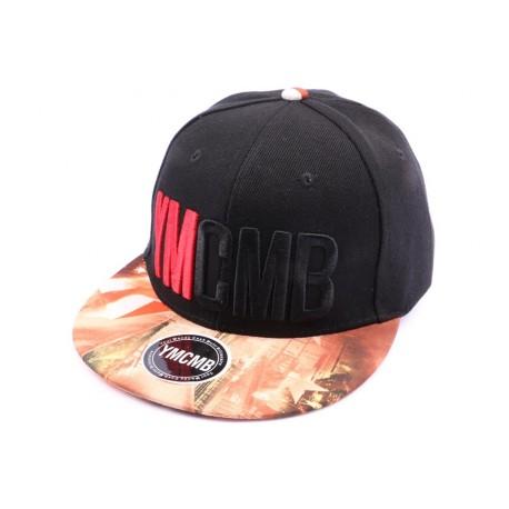 Casquette Snapback YMCMB Noir et visière imprimée