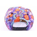 Casquette Snapback JBB couture Violet et imprimé orange