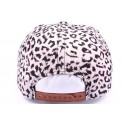 Casquette Snapback JBB couture blanche leopard