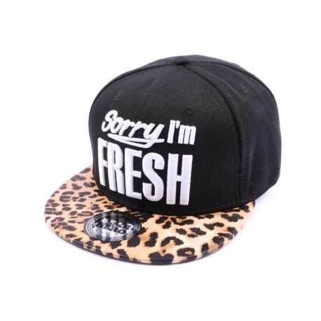Casquette Snapback JBB couture Sorry I'm Fresh Leopard