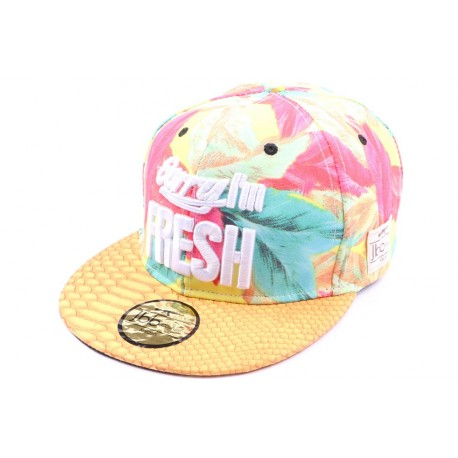 Casquette Snapback JBB Couture Sorry I'm fresh jaune