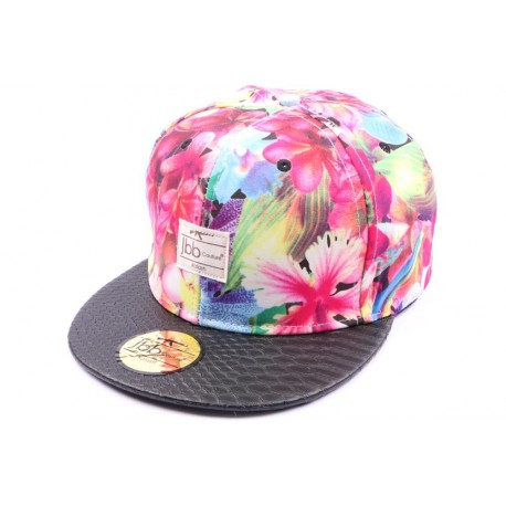 Casquette Snapback JBB Couture Florale Rouge