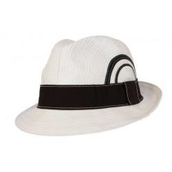 Nyls création chapeau de paille Scarface blanc