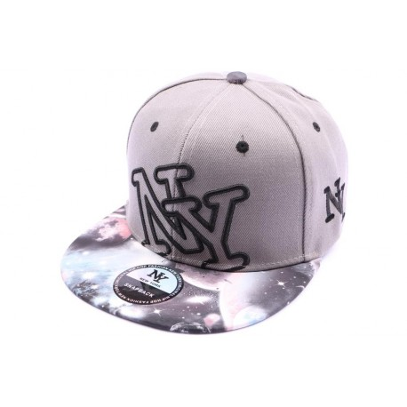 Casquette Snapback NY Grise version cosmos