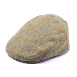 Casquette Plate Hereford Tweed vert, Rouge, taille 58