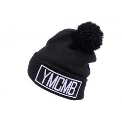 Bonnet YMCMB Noir avec pompon