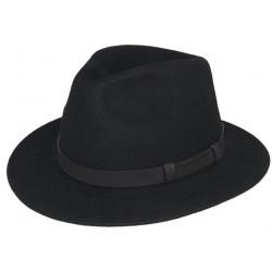 Chapeau feutre Herman Noir uni