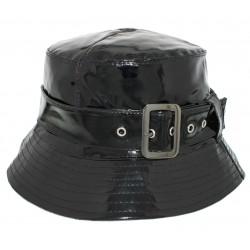 Chapeau pluie Herman Venise Noir brillant