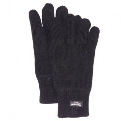 Gant Tricot uni Herman Thinsulate Noir