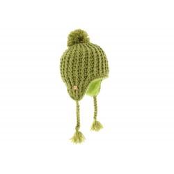 Bonnet Enfant Péruvien Tricot oblique Vert