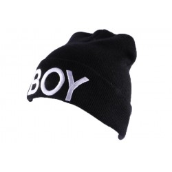 Bonnet à revers Noir BOY par JBB Couture