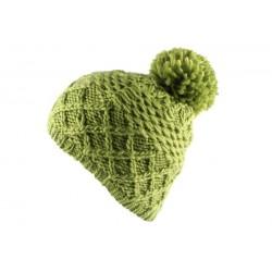Bonnet à pompon Flocon Vert