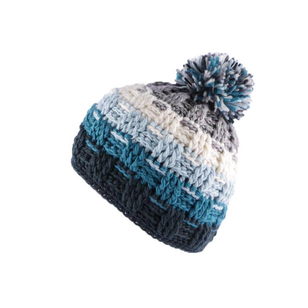 bonnet pompon bleu et gris bonnet snow marque l on montane pour votre. Black Bedroom Furniture Sets. Home Design Ideas