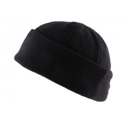 Bonnet Docker Noir en tissu polaire