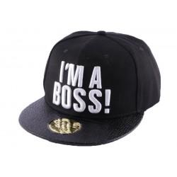 Snapback JBB Couture Noir I'm Boss !