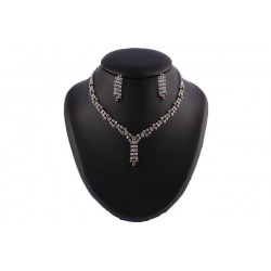 Collier Nessy Perles Chocolat et strass