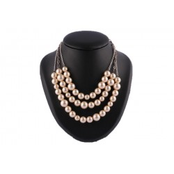 Collier Soul 3 rangs perles gold