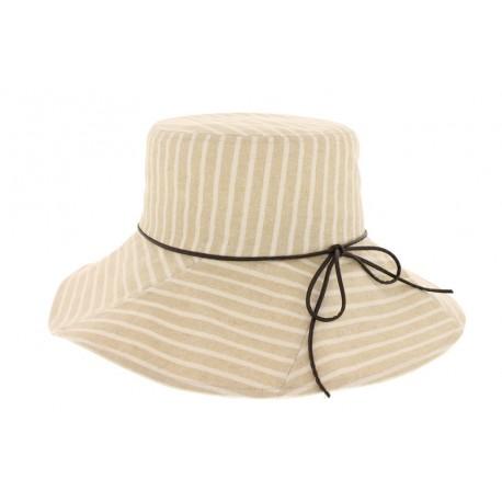Chapeau de toile classic beige