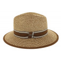 Chapeau de paille Edwardo naturel/marron