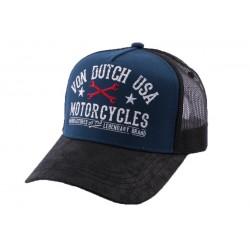 Casquette Trucker Von Dutch Garage Bleu