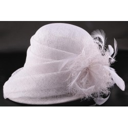 Chapeau Mariée Akilas en sisal blanchi