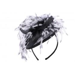 Coiffe Cérémonie Mae en sisal noir