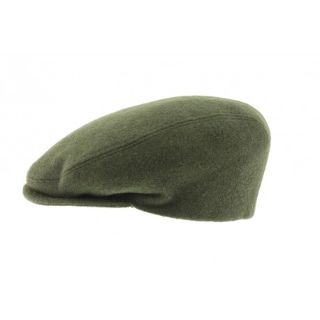 Casquette laine Boston Olive