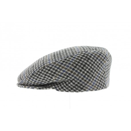 Casquette Boston carreaux Gris