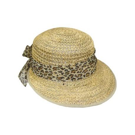 Chapeau paille Penny naturel/leopard