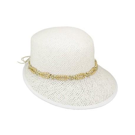 Chapeau Penny Blanc/perle